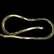 """Italian Vermeil 24"""" Sterling Herringbone Necklace"""