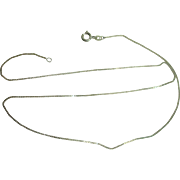 """Italian Sterling 18"""" Box Chain Necklace"""