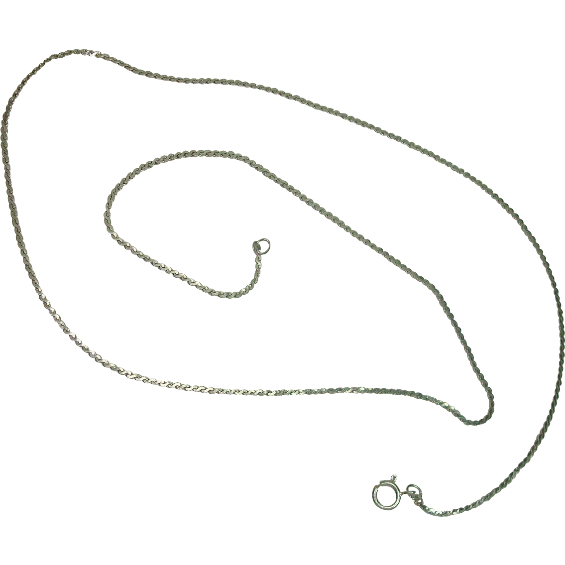 "Sterling Serpentine Necklace 18"""
