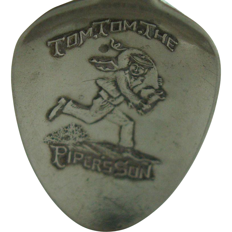 Tom tom The Pipers Son Nursery Rhyme Spoon
