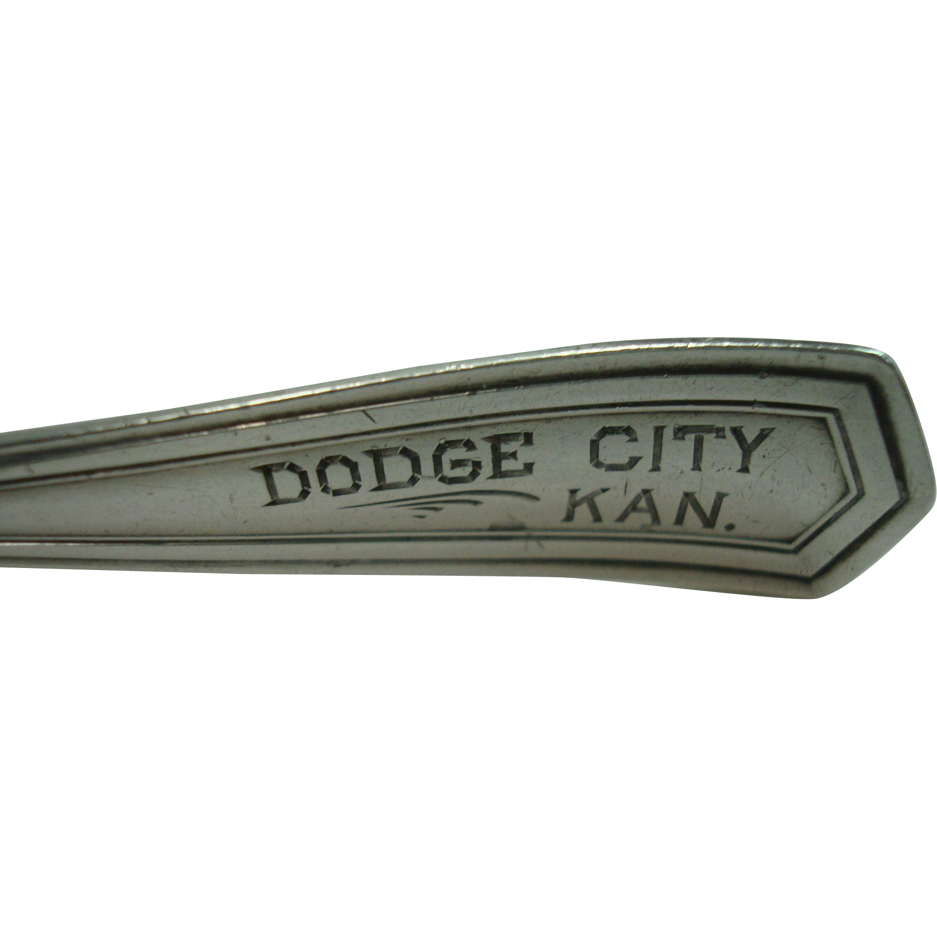 Dodge City Souvenir Spoon Sterling Silver