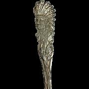 American Indian Head Sterling Souvenir Spoon