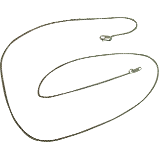 """Italian Sterling 18"""" Rolo Link Necklace"""