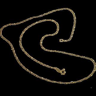 """Italian Vermeil Serpentine Twist Style 24"""" Necklace"""