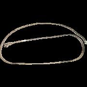 "Sterling Serpentine 20"" Necklace"