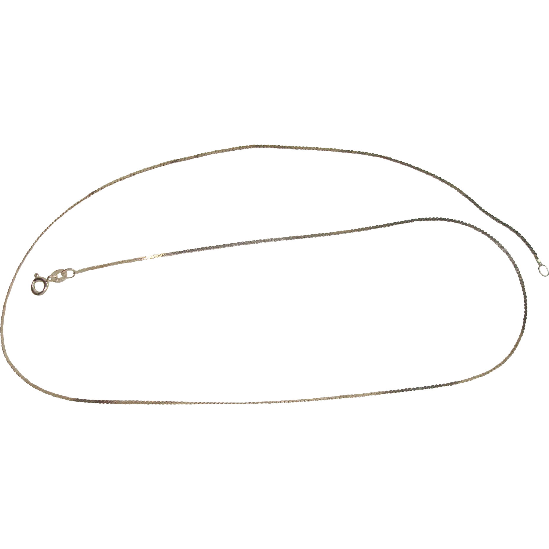 "Sterling Serpentine 20"" Necklace"