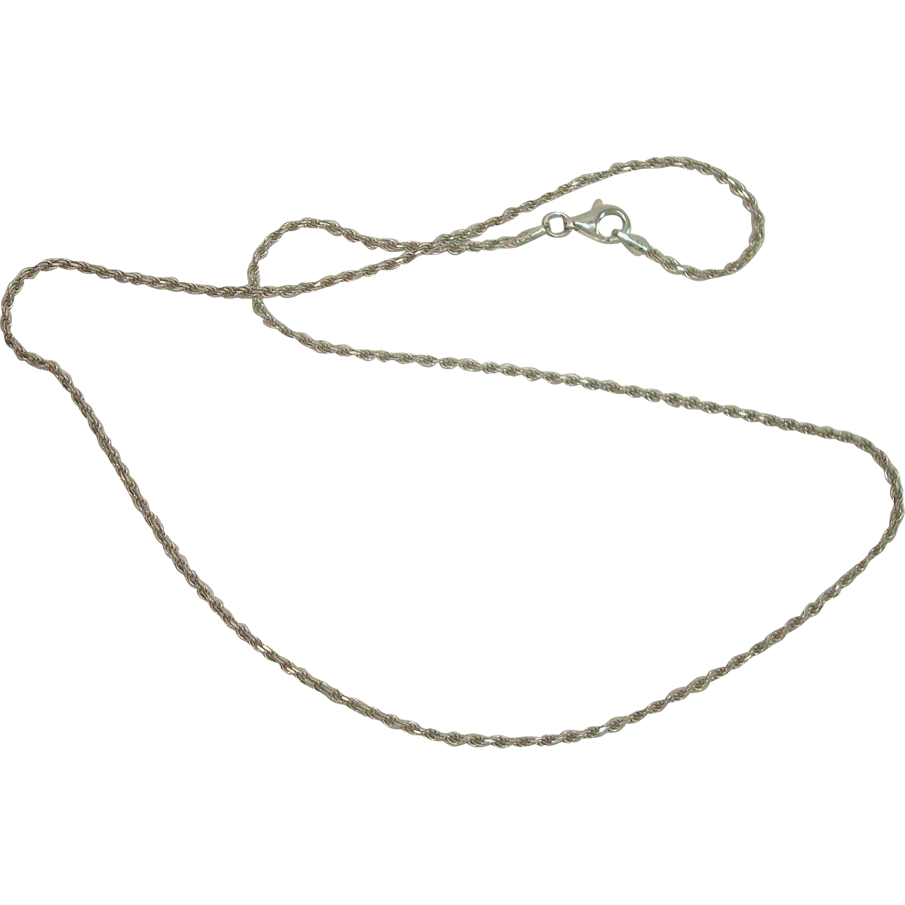 """Italian Sterling 17 3/4"""" Rope Necklace"""