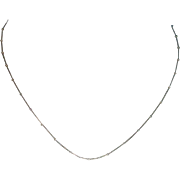 """Italian Sterling 18"""" Beaded Snake Chain Necklace"""