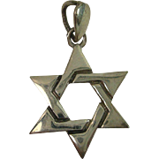 Sterling Star of David Pendant or Charm