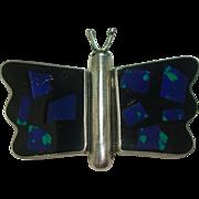 Enamel Sterling Butterfly Pin or Brooch