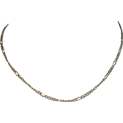"""Italian 18"""" Sterling Figaro Necklace"""