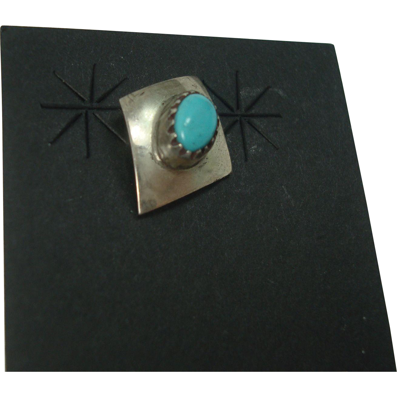 Sterling Turquoise Tie  Pin