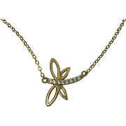 Vermeil Gold over Sterling Dragonfly Necklace