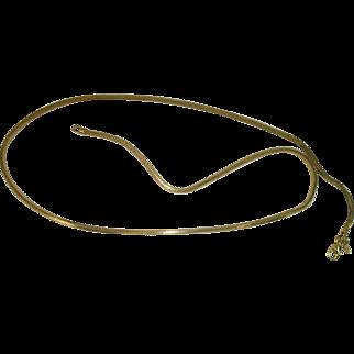 """Italian Vermeil Gold over Sterling 20"""" Snake Chain"""