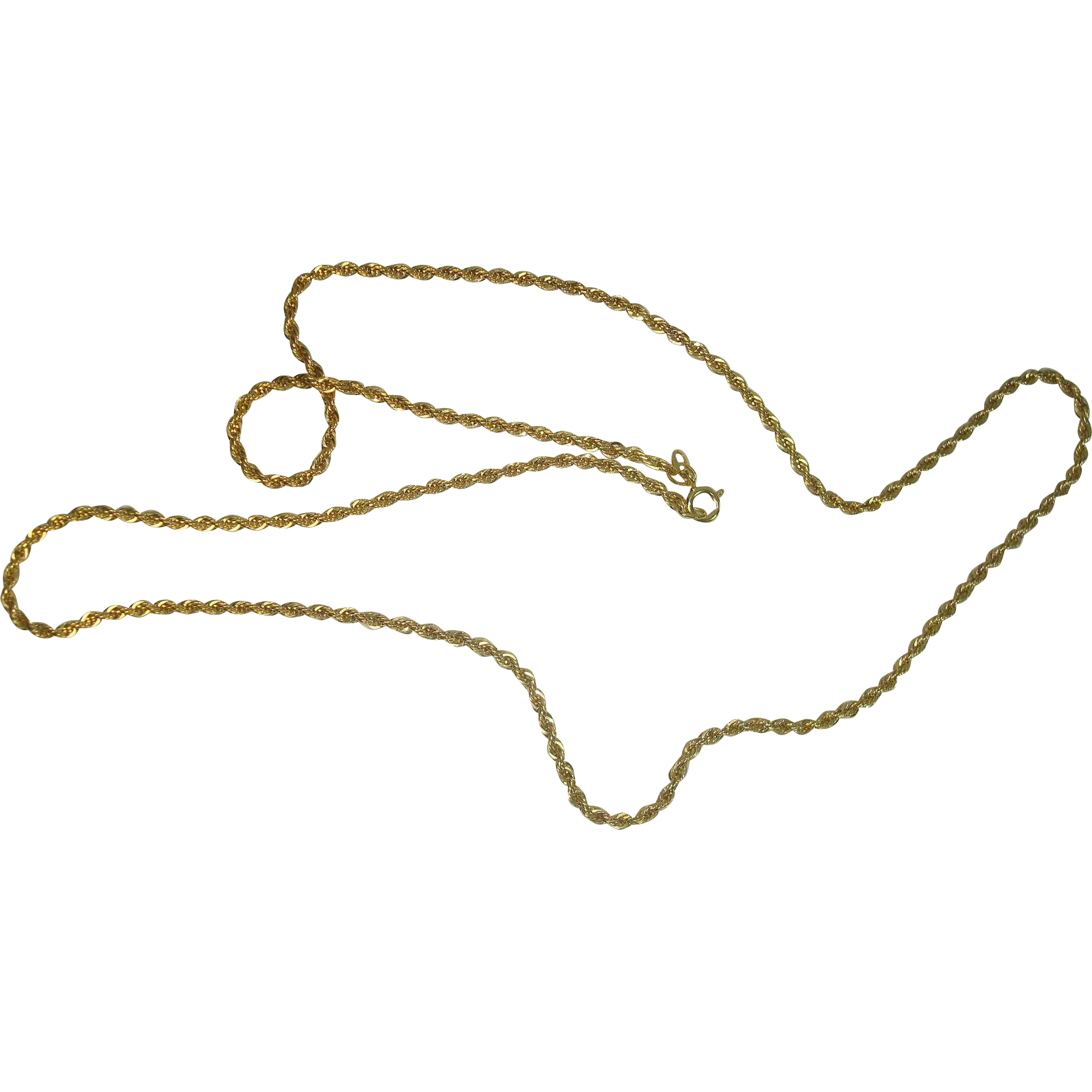 Danecraft Vermeil Gold over Sterling Rope Necklace 24""