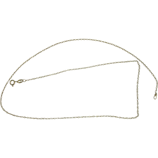 """Sterling Vermeil 18"""" Chain Link Necklace"""
