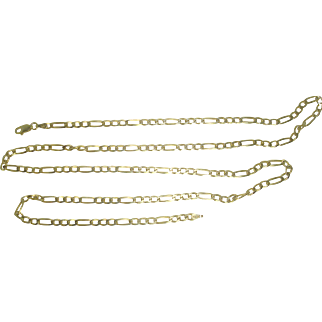 """30"""" Italian Vermeil Gold over Sterling Figaro Necklace"""