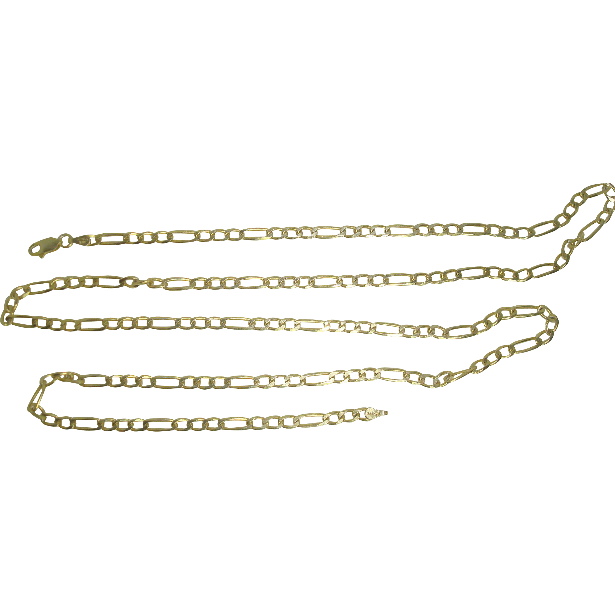 "30"" Italian Vermeil Gold over Sterling Figaro Necklace"
