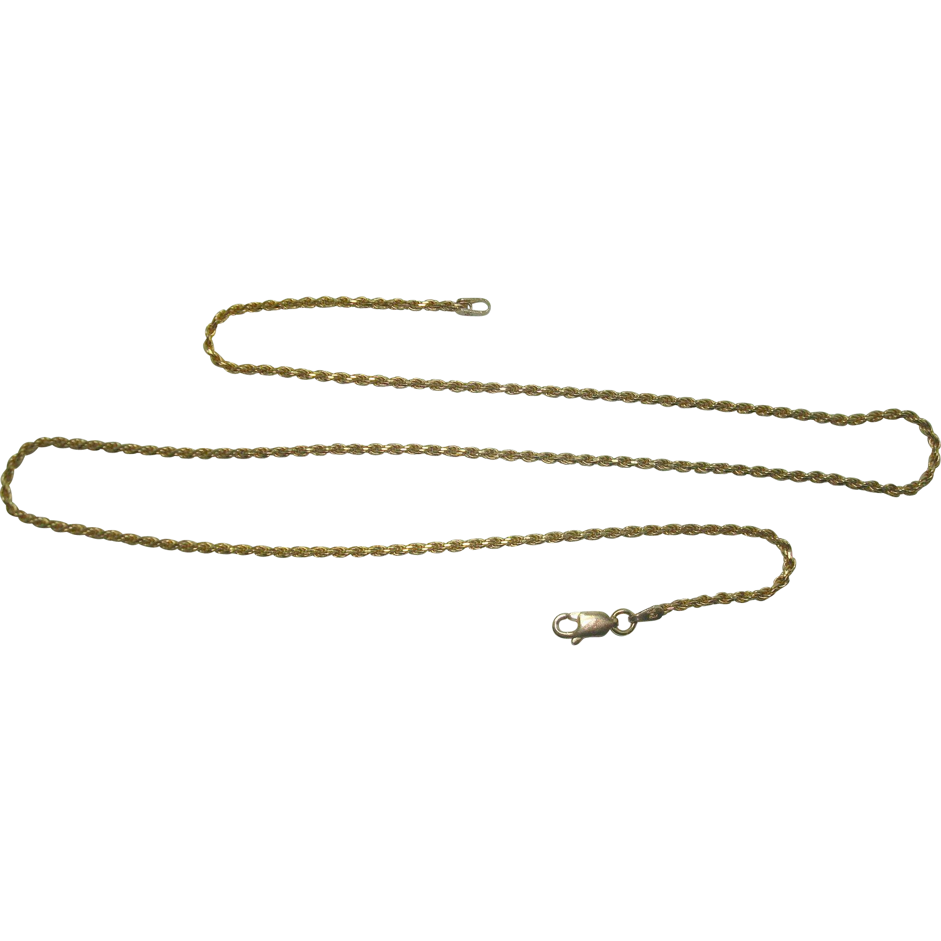 """Milor Italian Vermeil Gold over Sterling Rope Necklace 20"""""""