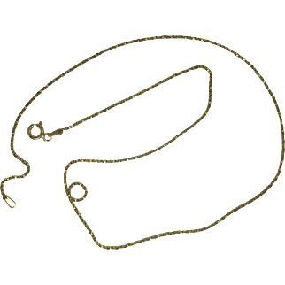 Italian Vermeil Gold over Sterling Box Chain Necklace