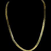 "Danecraft Italian Herringbone Vermeil Gold over Sterling Necklace 23 1/2"""