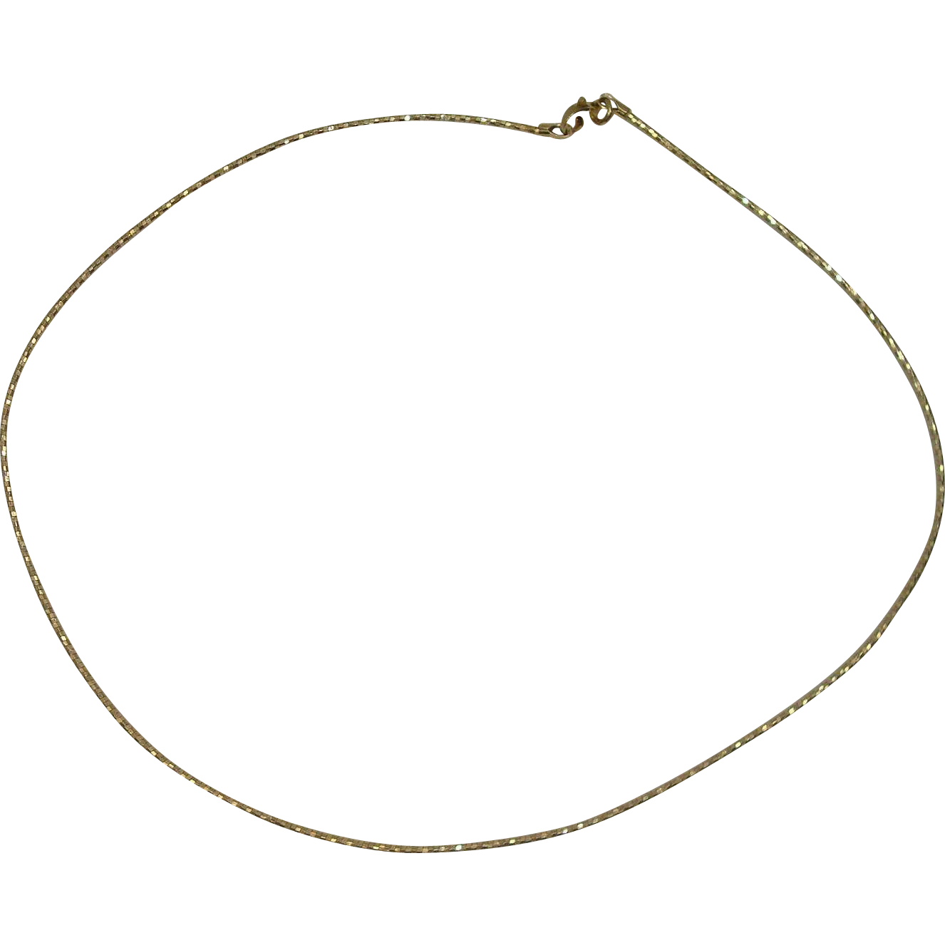 Italian Itaor Vermeil Gold over Sterling Silver Faceted Necklace 16""