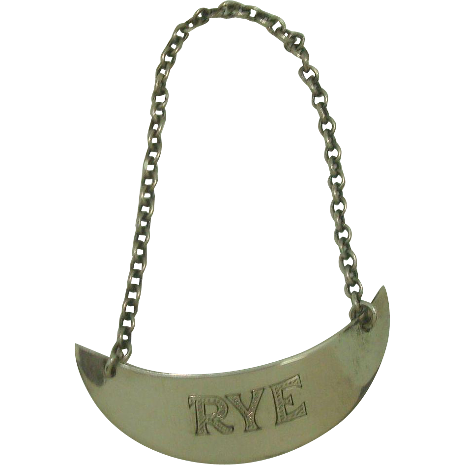 Sterling Rye Decanter Label