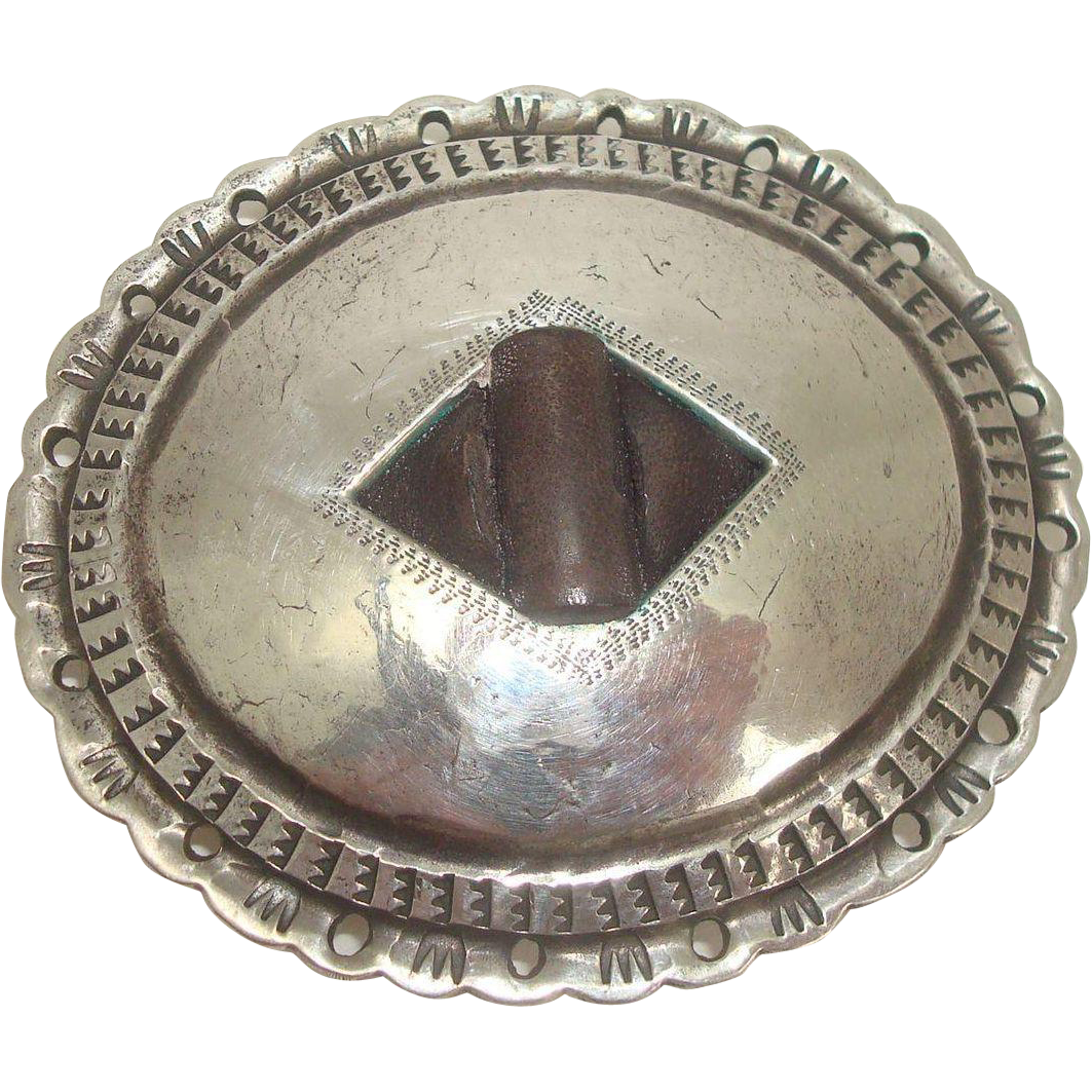 Rare Tom DeWitt Southwest Sterling Belt Buckle