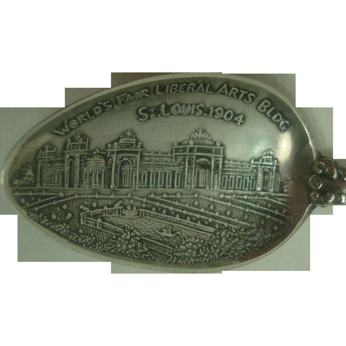 1904 St Louis Worlds Fair Liberal Arts Building Souvenir Spoon