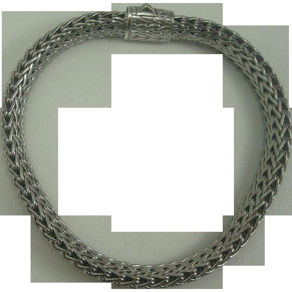 """John Hardy Woven Wheat Bracelet 7 1/2"""""""