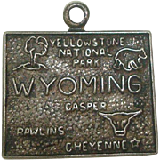 Vintage Sterling wyoming State Charm