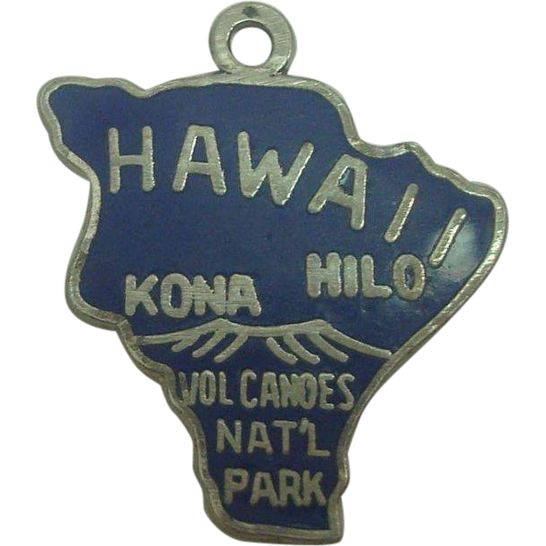 Hawaii Sterling Enameled State Charm