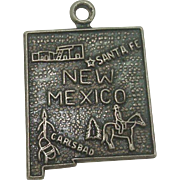 Vintage New Mexico State Sterling Charm