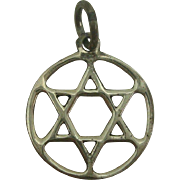 Sterling Star of David Charm
