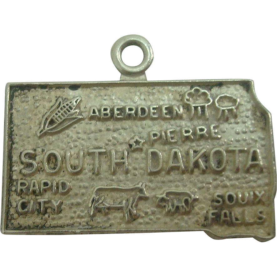 Vintage South Dakota State Charm