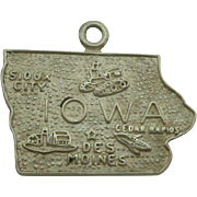 Vintage Iowa State Sterling Charm