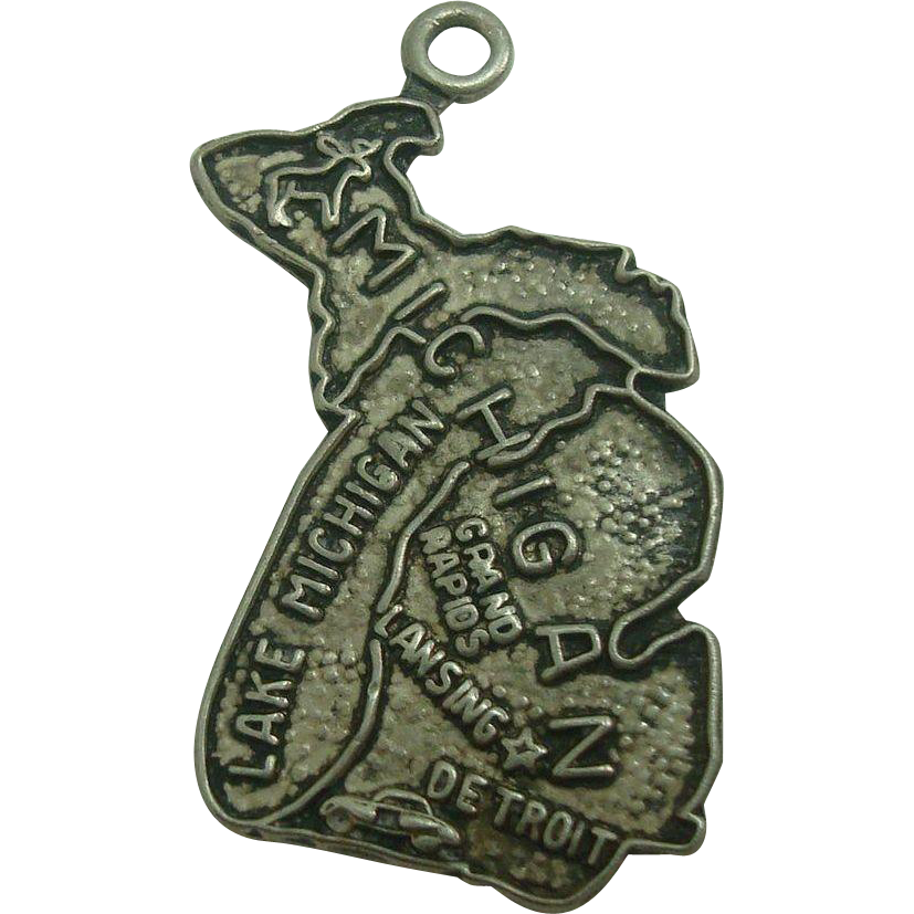 Vintage Michigan State Sterling Charm