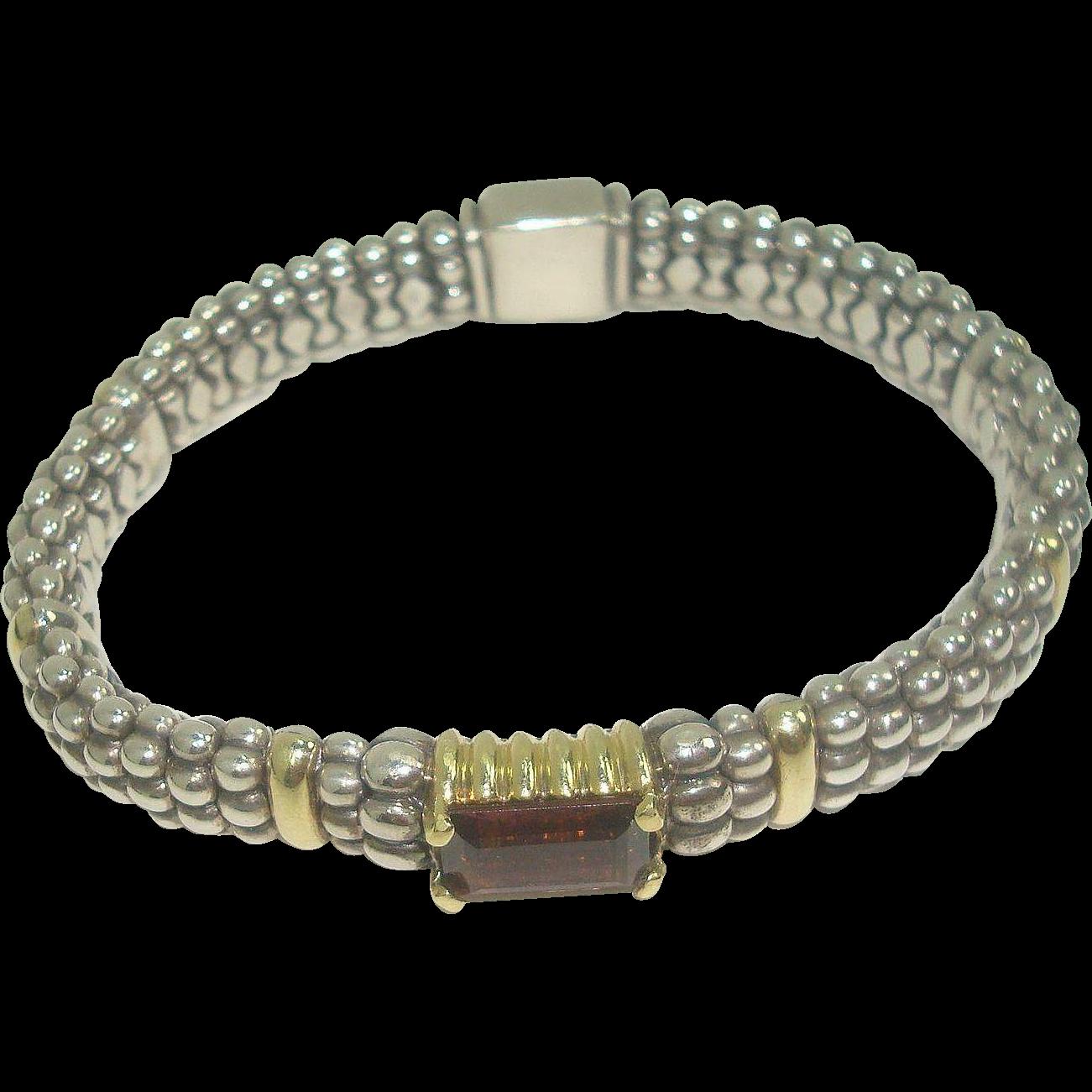 Lagos 18K Sterling Caviar Tourmaline Bracelet