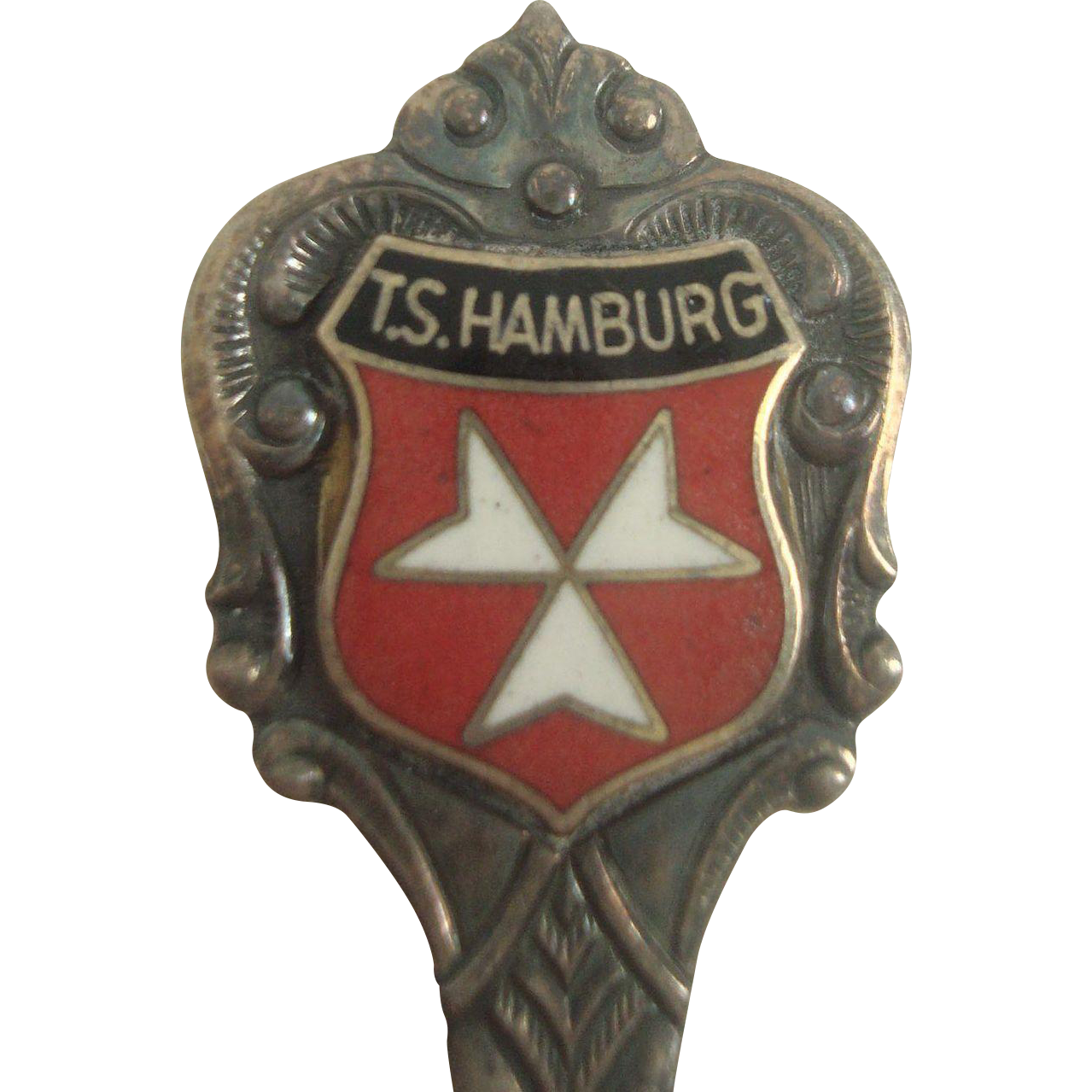 T.S. Hamburg German Atlantic Line 800 Silver Souvenir Spoon