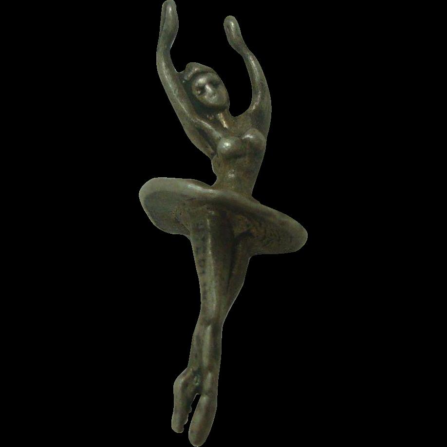 Sterling Vintage Ballerina Charm