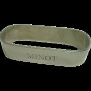 The Thomae Co Minot North Dakota Napkin Ring