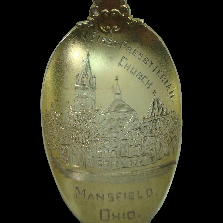 First Presbyterian Church Mansfield Ohio Souvenir Spoon