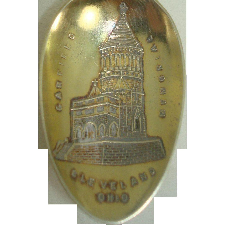 Garfield Memorial Cleveland Ohio Souvenir Spoon