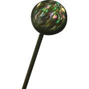 Vintage Abalone Shell Sterling Hat Pin
