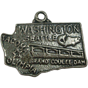 Washing State Sterling Charm