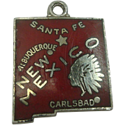 New Mexico Enameled Sterling Charm