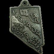 Vintage Nevada State Sterling Charm