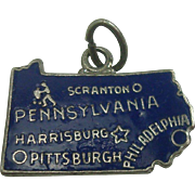 Enameled Sterling Pennsylvania State Charm