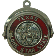Texas Lone Star State Sterling Charm