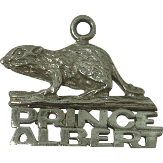 Prince Albert Saskatchewan Canada Beaver Sterling Charm
